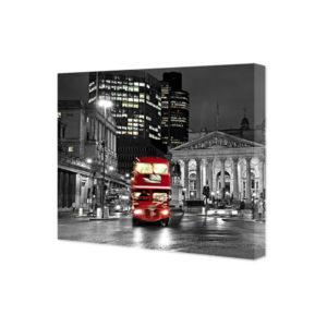 Londyn - czerwony autobus - obraz na płótnie