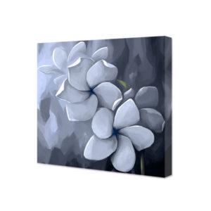 Obraz na płótnie kwadratowy malowane szare kwiaty
