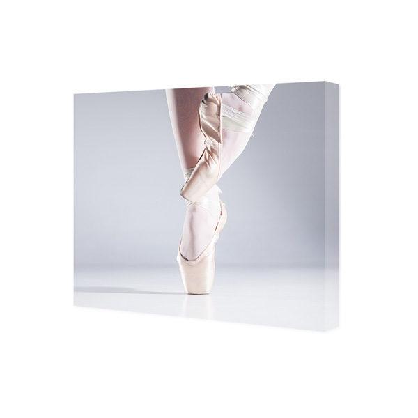 Obraz na płótnie baletnica w baletkach na palcach