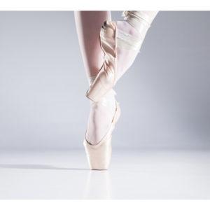 Obraz baletnica w baletkach na palcach