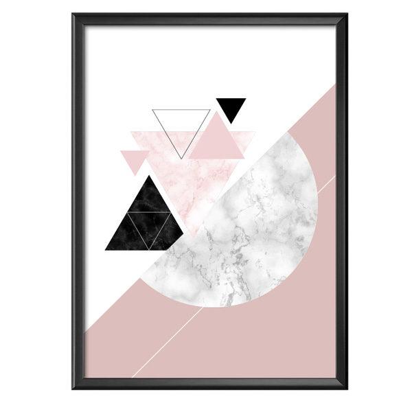 Plakat geometryczne marmurowe kształty