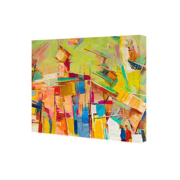 obraz na płótnie abstrakcja w kolorach