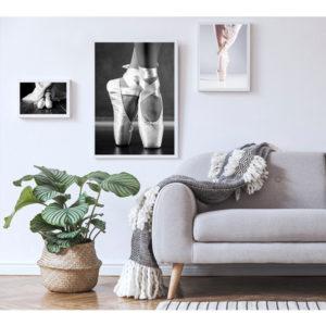 obraz na płótnie baletki balerina wizualizacja