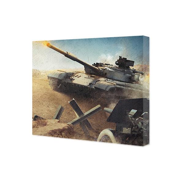 Obraz na płótnie czołg na polu bitwy