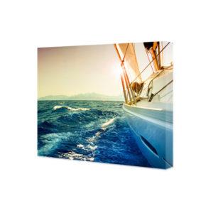 Obraz na płótnie jacht żaglowy o zachodzie słońca