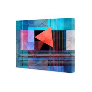 obraz na płótnie kolorowe linie na geometrycznych kształtach