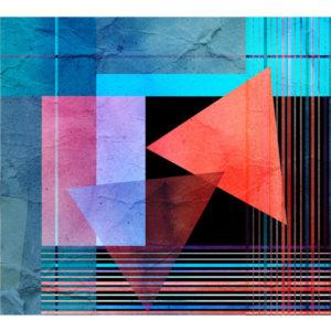 kolorowe linie na geometrycznych kształtach