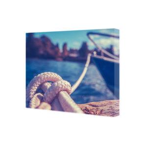 Obraz na płótnie lina zacumowanego jachtu