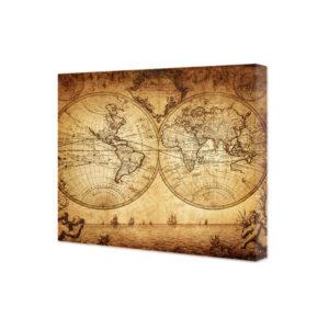 obraz na płótnie mapa świata vintage