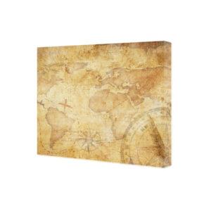 obraz na płótnie mapa świata vintage z kompasem