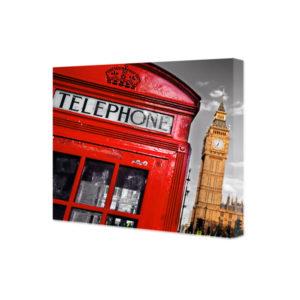 Obraz na płótnie Londyn – buska telefoniczna i Big Ben