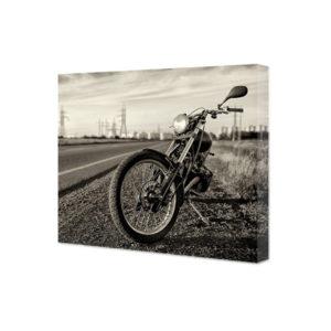 Obraz na płótnie motocykl vintage na poboczu