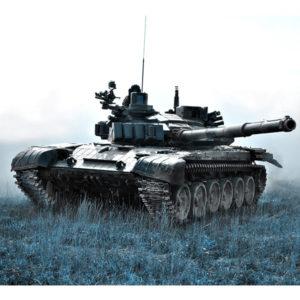 obraz czołg na patrolu
