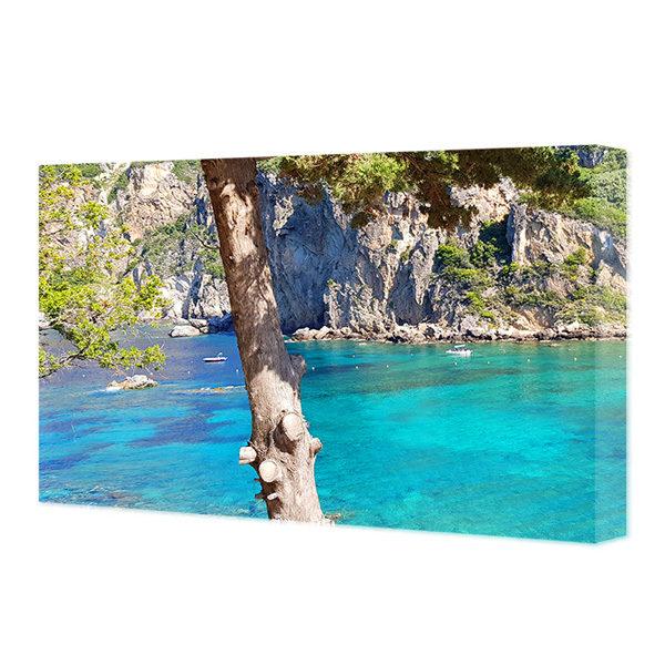 Obraz na płótnie grecka zatoka z turkusową wodą