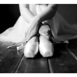 Obraz siedząca baletnica