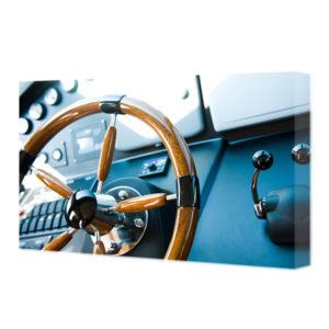 Obraz na płótnie kierownica jachtu