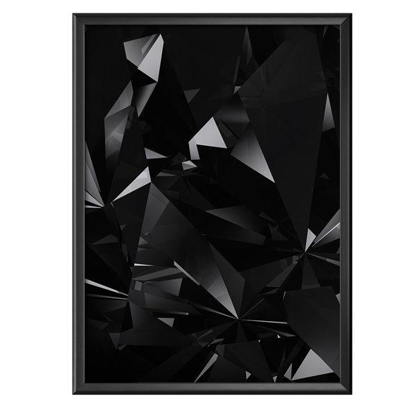 plakat czarne geometryczne kształty
