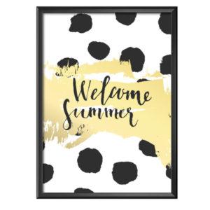 Plakat z napisem Welcome Summer