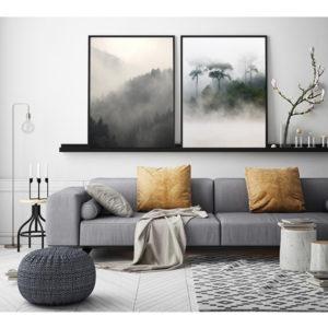 Plakaty zestaw mgła
