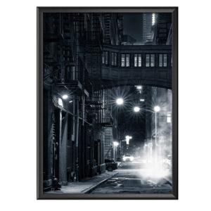 Plakat noc na ulicach Nowego Yorku