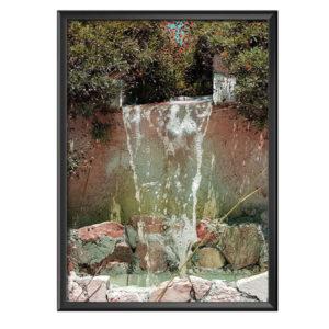 Plakat ogrodowy wodospad