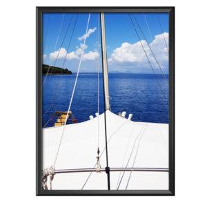 Plakat widok na morze z dzioba statku