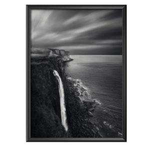 Plakat wodospad na klifie