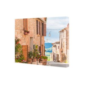 Obraz na płótnie uliczka w starym miasteczku