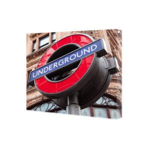 Obraz na płótnie Znak underground Londyn