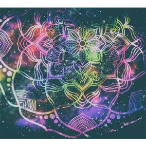 obraz mandala na tle gwiezdnego pyłu