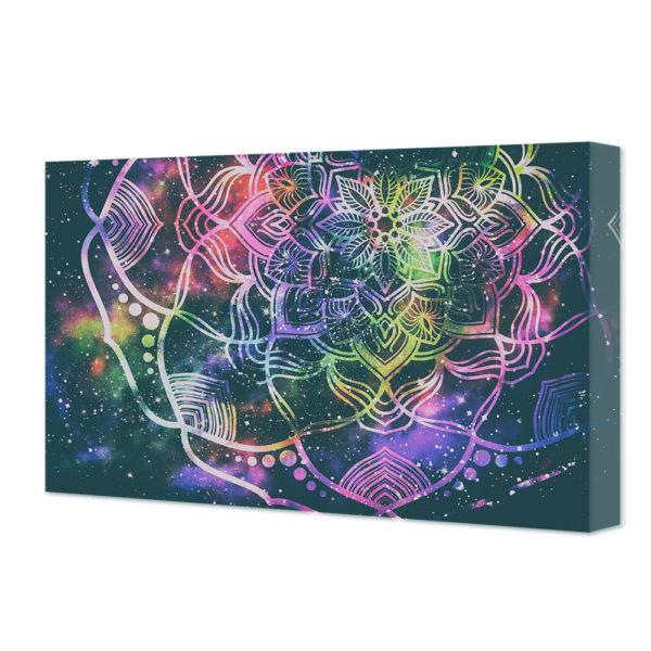 obraz na płótnie mandala na tle gwiezdnego pyłu